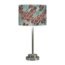"Organic Modern Cell Stem 24"" H Table Lamp with Drum Shade"