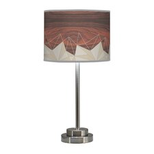 "Organic Modern Facet Stem 24"" H Table Lamp with Drum Shade"