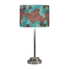 "Organic Modern Geode Stem 24"" H Table Lamp with Drum Shade"