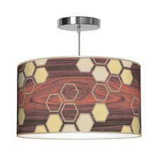 Organic Modern Hex Pendant