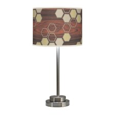 "Organic Modern Hex Stem 24"" H Table Lamp with Drum Shade"