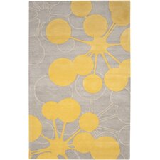 Organic Modern Bubble Gray & Yellow Area Rug