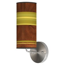 Organic Modern 1 Light Stripey Horizontal Wall Sconce