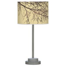 "Organic Modern Branch Stem 24"" H Table Lamp with Drum Shade"