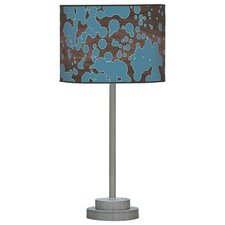 "Organic Modern Fizzy Stem 24"" H Table Lamp with Drum Shade"