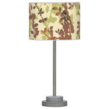 "Organic Modern Leaf Stem 24"" H Table Lamp with Drum Shade"
