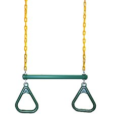 Gym Ring/Trapeze Bar Combo with Coated Chains
