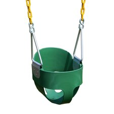 Heavy Duty High Back Full Bucket Swing with Coated Chain