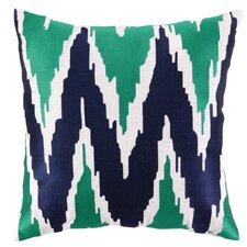 Sarah Embroidered Linen Throw Pillow