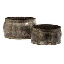 Fortress Barrel Decorative Bowl 2 Piece Set