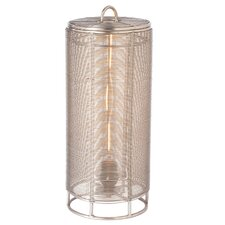 "Steel Wrapped Wire 16"" H Table Lamp with Drum Shade"