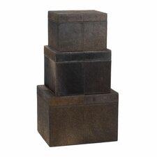 3 Piece Nested Faux Pony Box Set