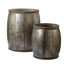 2 Piece Decorative Fortress Drum Set
