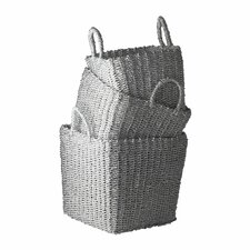 Nested Recycled Twisted Silver Foil Basket