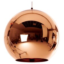 Copper 1 Light Globe Pendant