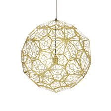 Etch Web 1 Light Globe Pendant