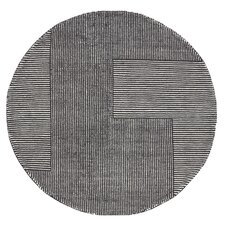 Stripe Black & White Area Rug