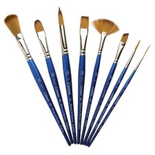 Cotman Synthetic Watercolor Round Short Handle Brush (Set of 6)