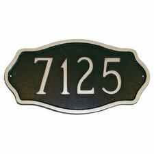 Hampton Standard Address Plaque