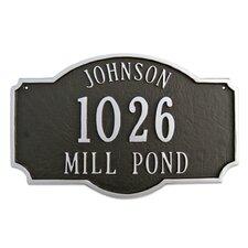 Montague Standard Address Plaque
