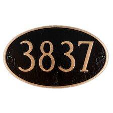 Oval Standard Address Plaque