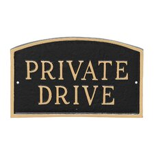 Arch Private Drive Statement Address Plaque
