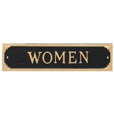 Women Restroom Statement Address Plaque