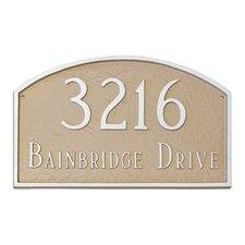 Prestige Arch Standard Address Plaque
