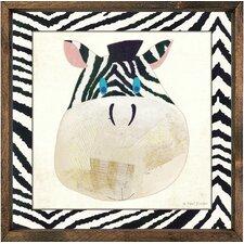 Magnet Art Print Zebra Framed Art
