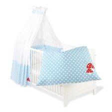 4-tlg. Babybettwäsche-Set Glückspilz