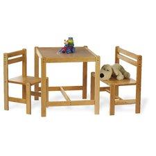 3-tlg. Kindersitzgruppe Sven Klar lackiert