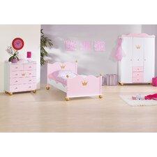 3-tlg. Schlafzimmer-Set Prinzessin Karolin, 90 x 200 cm