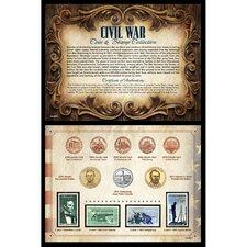 Civil War Coin and Stamp Memorabilia