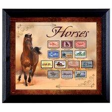 Horses on Stamps Framed Memorabilia