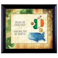 Irish By Descent Framed Memorabilia