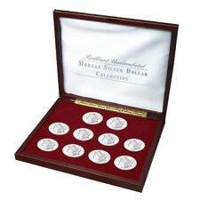 Brilliant Uncirculated Morgan Silver Dollar Collection Display Box