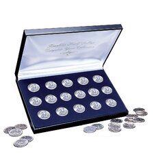 1948-1963 Complete Franklin Silver Half Dollar Collection Display Box