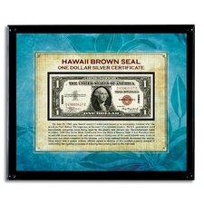 Hawaii Brown Seal Note Framed Memorabilia