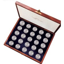Complete Walking Liberty Half Dollar Collection Display Box