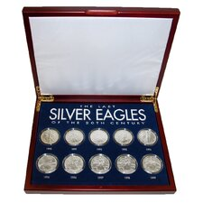 The Last Silver Eagles of the 20th Century Display Box