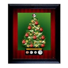 Decorative Personalized Family Framed Coin Christmas Tree