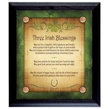 Three Irish Blessings with 4 Lucky Irish Pennies Framed Memorabilia