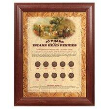 10 Years of Indian Head Pennies Framed Memorabilia