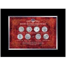 History of United States Nickels Coin Desk Framed Memorabilia