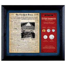New York Times March For Civil Rights Framed Memorabilia