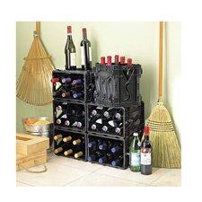 Storvino Nero 6 Bottle Floor Wine Wine Rack (Set of 2)