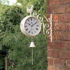 Dual Sided Garden Wall Clock