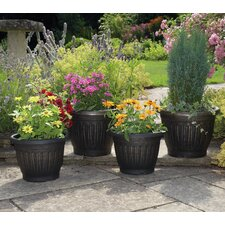 4 Piece Round Pot Planter Set