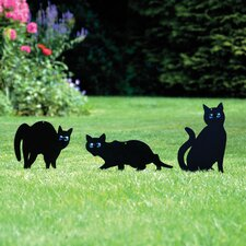 3 Piece Cat Scarer Statue Set (Set of 3)