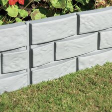 Brick Effect Garden Border (Set of 4)